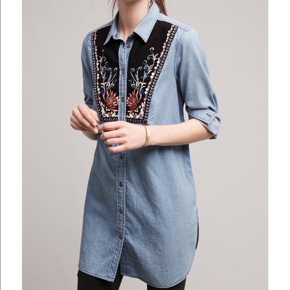Anthropologie Tops - Anthropologie murelet chambray tunic